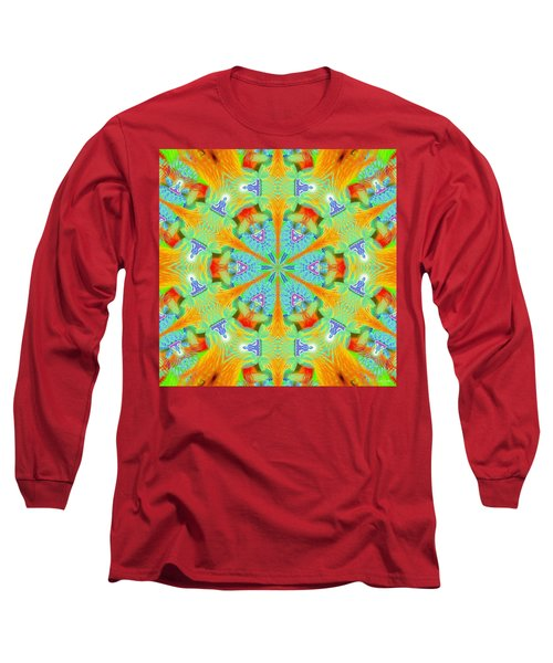 Cosmic Spiral Kaleidoscope 41 Long Sleeve T-Shirt