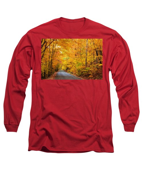 Country Road In Fall Long Sleeve T-Shirt