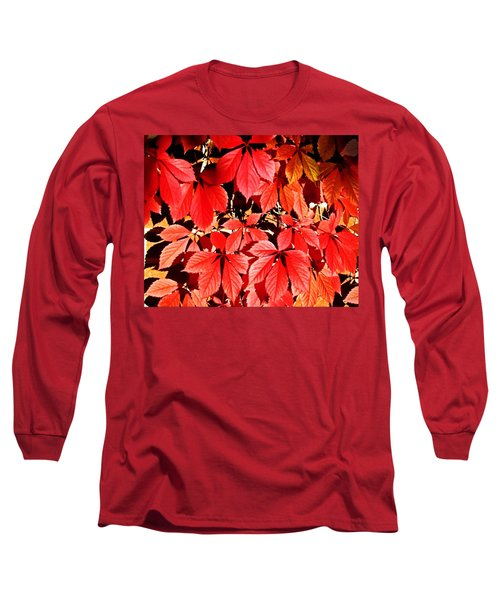 Crimson Virginia Creeper 2 Long Sleeve T-Shirt