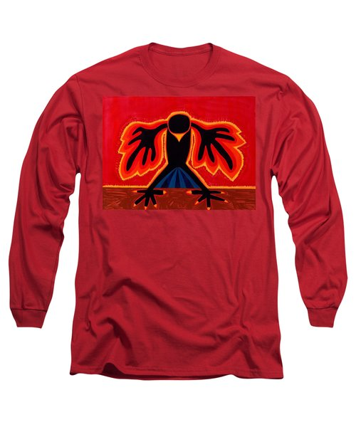 Crow Rising Original Painting Long Sleeve T-Shirt