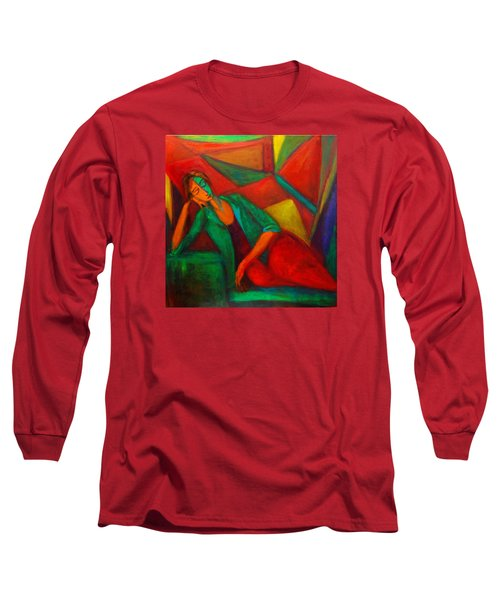 Cubism Contemplation  Long Sleeve T-Shirt