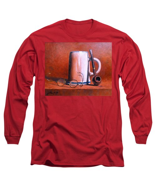 Cup Pipe And Glasses Long Sleeve T-Shirt