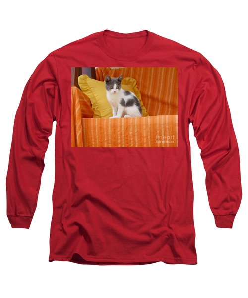 Cute Kitty Long Sleeve T-Shirt by Vicki Spindler