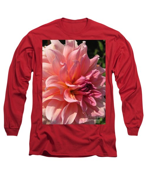 Dahlia Named Fire Magic Long Sleeve T-Shirt by J McCombie