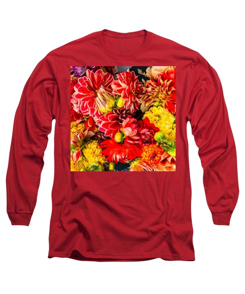 Dahlias Summer Color Long Sleeve T-Shirt