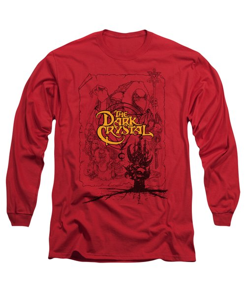 Dark Crystal - Poster Lines Long Sleeve T-Shirt