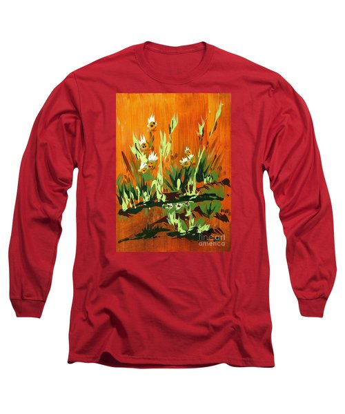 Long Sleeve T-Shirt featuring the painting Darlinettas by Holly Carmichael