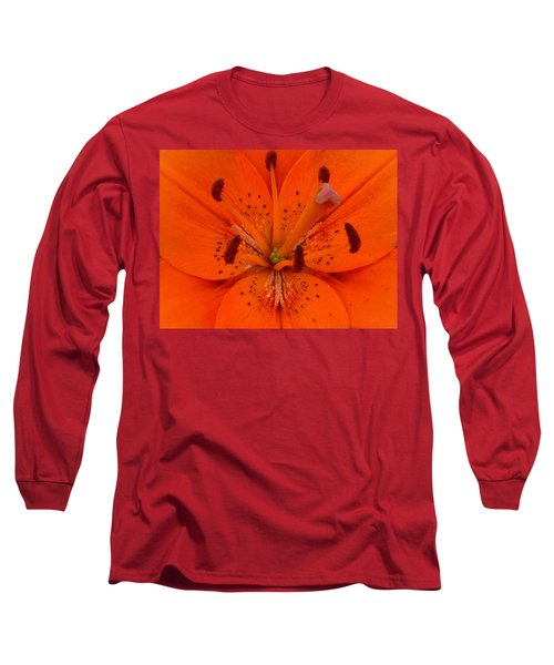 Daylily Heart Long Sleeve T-Shirt