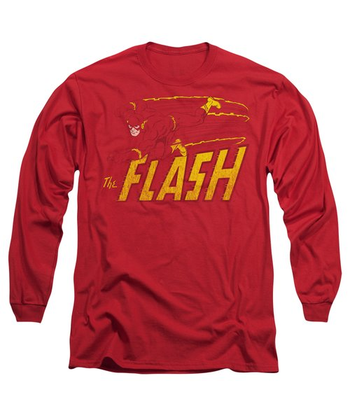 Dc - Flash Speed Distressed Long Sleeve T-Shirt