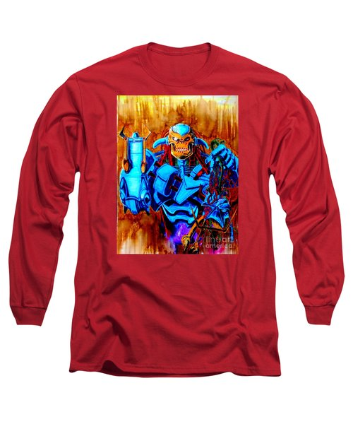 Death's Head II Long Sleeve T-Shirt by Justin Moore