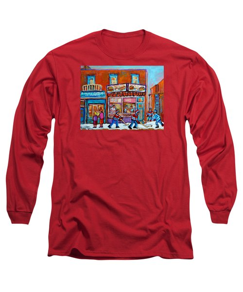 Decarie Hot Dog Restaurant Ville St. Laurent Montreal  Long Sleeve T-Shirt by Carole Spandau