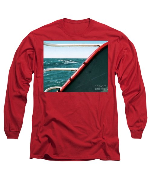 Long Sleeve T-Shirt featuring the photograph Deep Blue Sea Of The Gulf Of Mexico Off The Coast Of Louisiana Louisiana by Michael Hoard