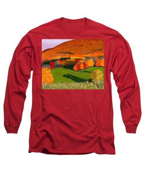 Deer's Eye View Of Bear Meadows Farm Long Sleeve T-Shirt