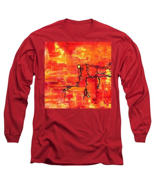 Dendritic Echoes Long Sleeve T-Shirt