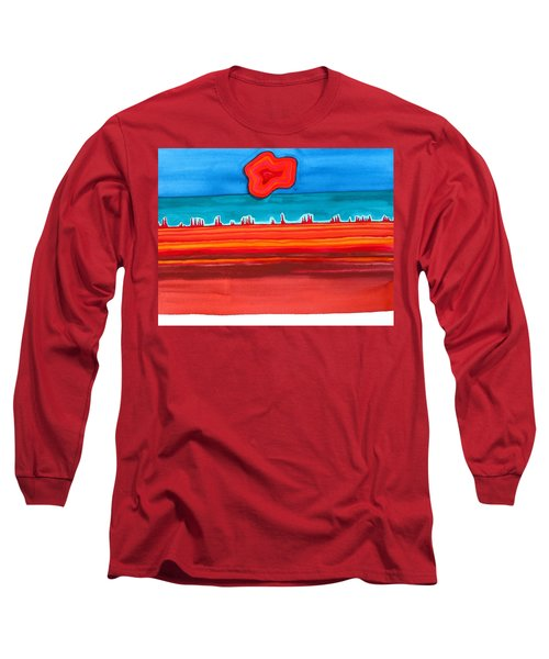 Desert Cities Original Painting Sold Long Sleeve T-Shirt