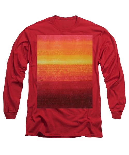 Desert Horizon Original Painting Long Sleeve T-Shirt