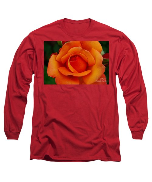 Long Sleeve T-Shirt featuring the photograph Detail In Orange by John S