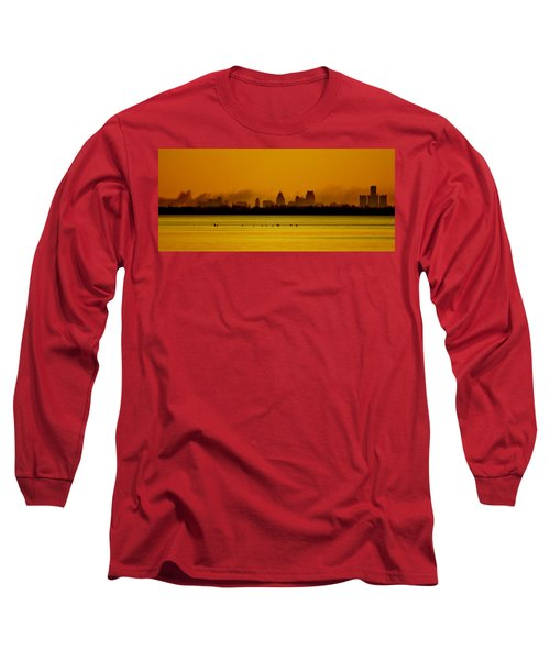 Detroit At Dawn Long Sleeve T-Shirt