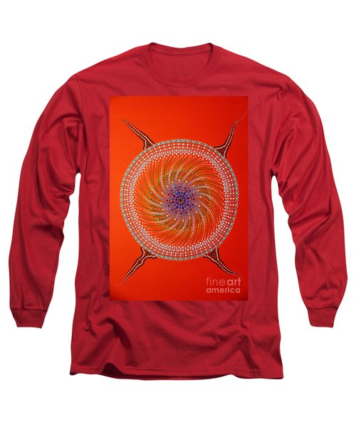 Long Sleeve T-Shirt featuring the painting Devil Original Painting by Mariusz Czajkowski