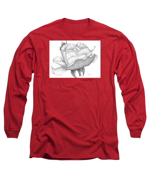 Distant Drum Rose Bloom Long Sleeve T-Shirt by Patricia Hiltz