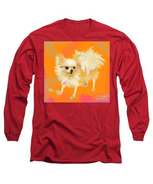 Dog Chihuahua Orange Long Sleeve T-Shirt