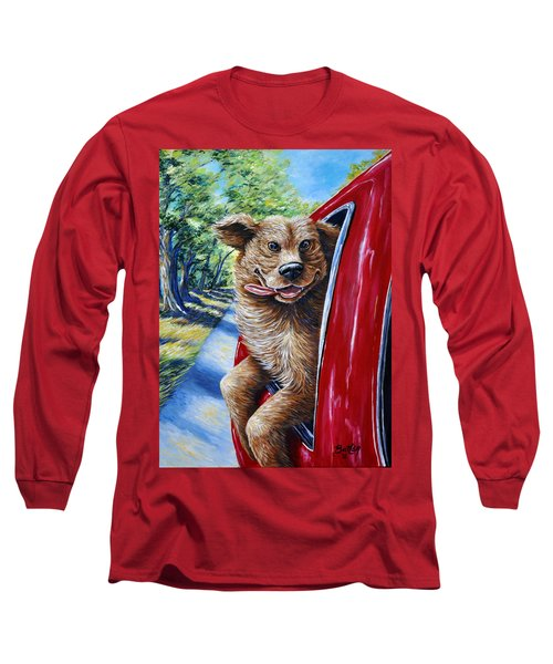 Dog...gone Happy Long Sleeve T-Shirt by Gail Butler