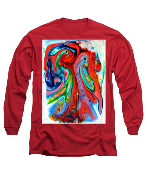 Long Sleeve T-Shirt featuring the painting Dont Worry  Be Happy by Joyce Dickens