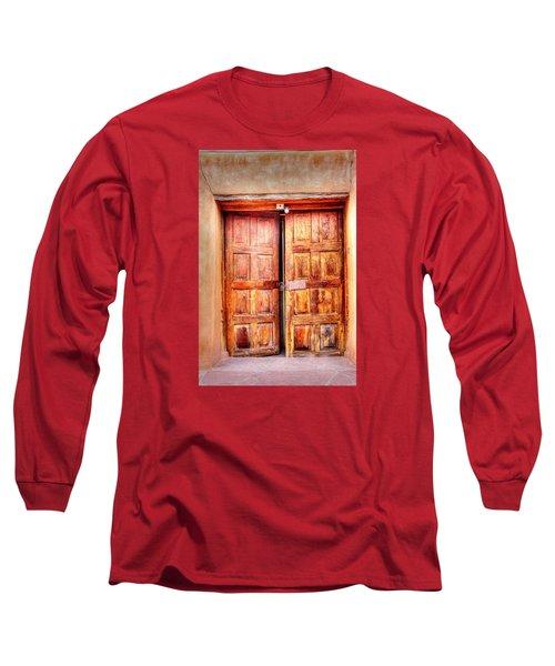 Long Sleeve T-Shirt featuring the photograph Doors To The Inner Santuario De Chimayo by Lanita Williams