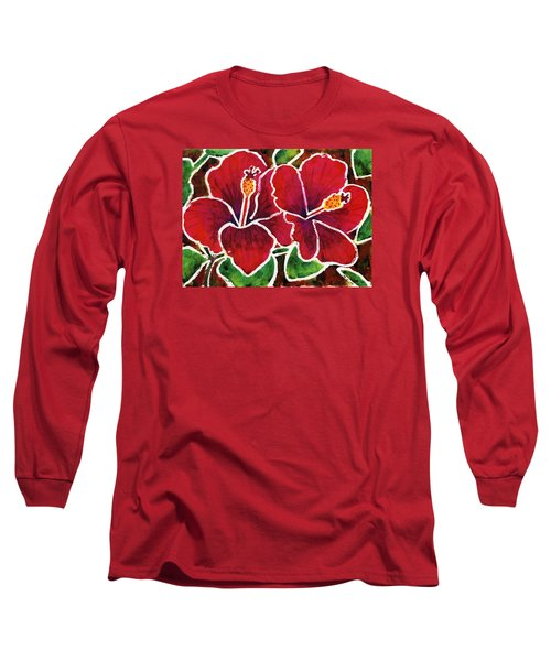 Double Hibiscus Long Sleeve T-Shirt