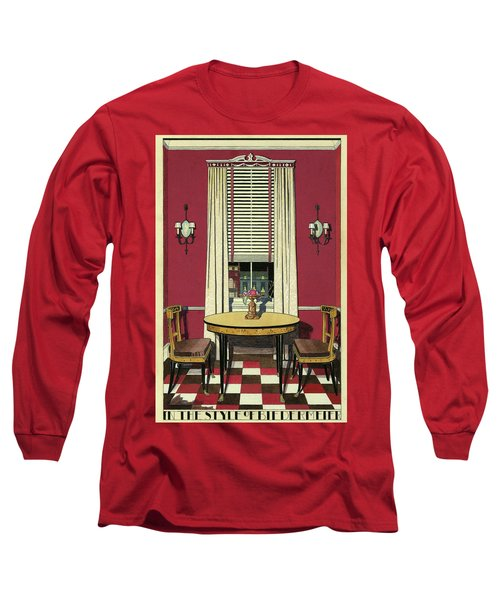 Drawing Of A Breakfast Room Long Sleeve T-Shirt