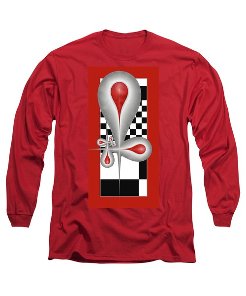 Drops On A Chess Board Long Sleeve T-Shirt