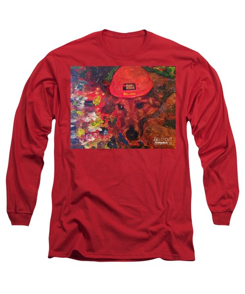 Long Sleeve T-Shirt featuring the painting Alameda Radar  by Linda Weinstock