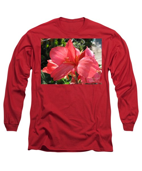 Dwarf Canna Lily Named Shining Pink Long Sleeve T-Shirt by J McCombie