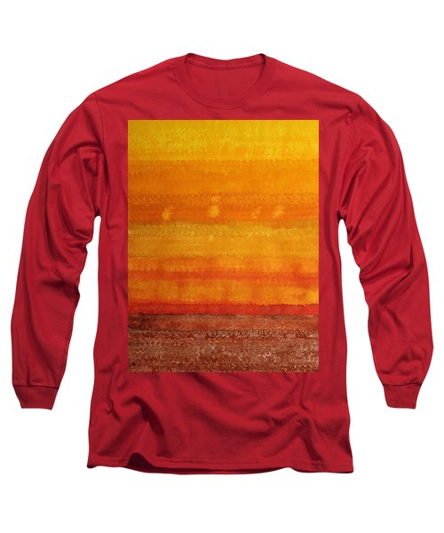 Earth And Sky Original Painting Long Sleeve T-Shirt by Sol Luckman