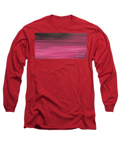 Long Sleeve T-Shirt featuring the digital art Abstract Earth Motion Aubergine by Linsey Williams
