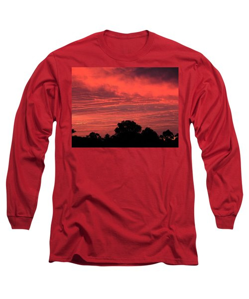 Electric Red Long Sleeve T-Shirt