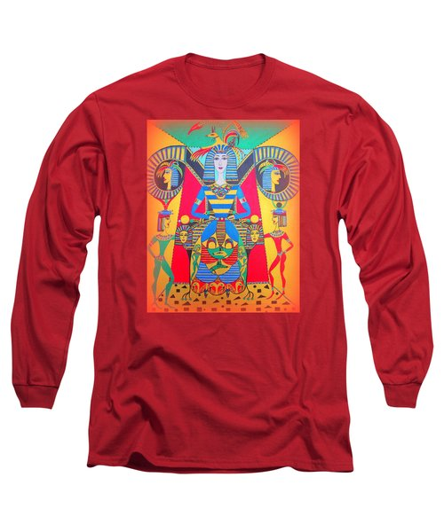 Long Sleeve T-Shirt featuring the painting Eleonore Friend Princess Jacqueline by Marie Schwarzer
