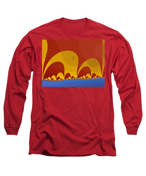 Long Sleeve T-Shirt featuring the digital art Elephant Lake by Mark Greenberg