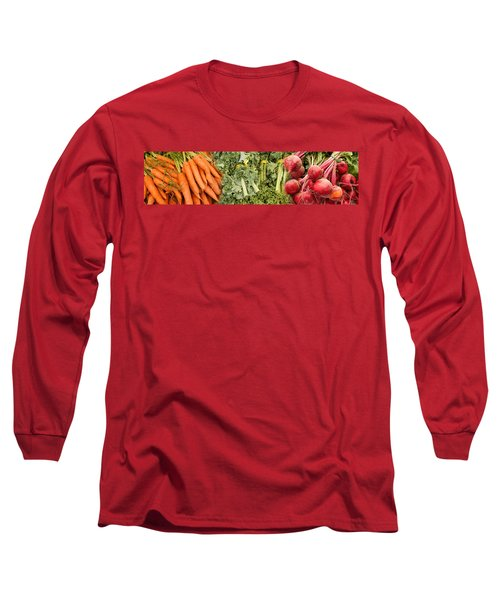 Elevated View Of Vegetables At Market Long Sleeve T-Shirt