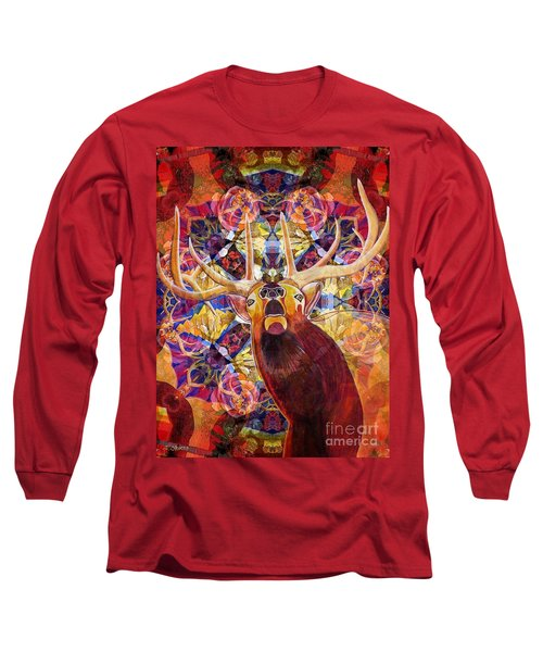Elk Spirits In The Garden Long Sleeve T-Shirt