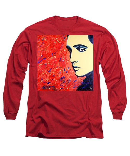 Elvis Presley - Red Blue Drip Long Sleeve T-Shirt