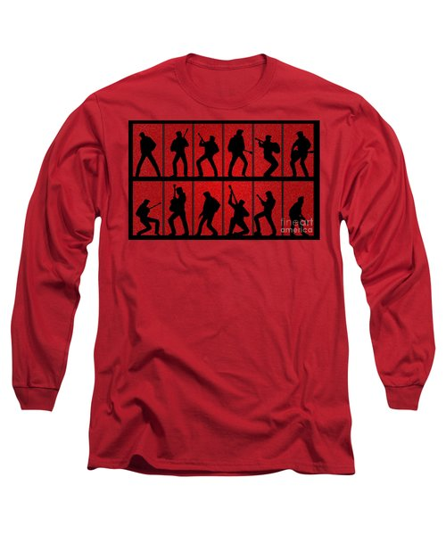 Elvis Silhouettes Comeback Special 1968 Long Sleeve T-Shirt by Liz Leyden