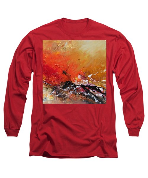 Long Sleeve T-Shirt featuring the painting Emotion 2 by Ismeta Gruenwald