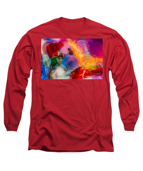 Long Sleeve T-Shirt featuring the painting Enchanting Flames by Omaste Witkowski