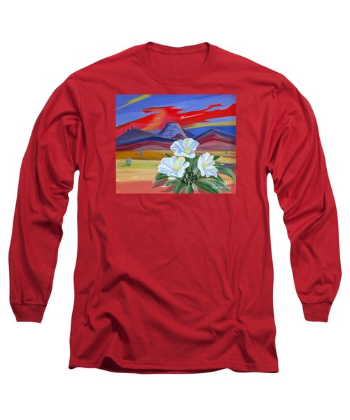 Long Sleeve T-Shirt featuring the painting Evening Primrose by Phyllis Kaltenbach