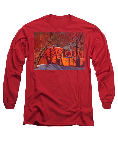 Evening Shadows On A Round Taos House Long Sleeve T-Shirt by Art James West