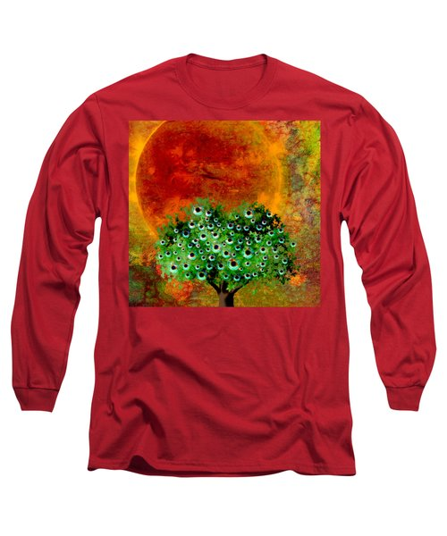 Eye Like Apples Long Sleeve T-Shirt by Ally  White