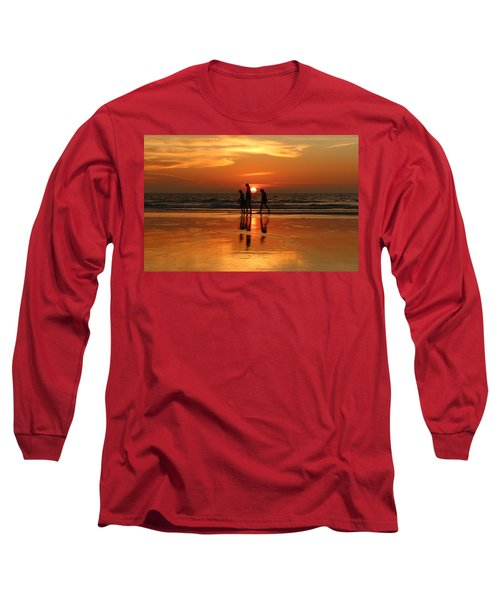 Family Reflections At Sunset - 1 Long Sleeve T-Shirt