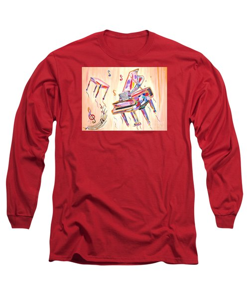 Fantasy Impromptu Long Sleeve T-Shirt by Phyllis Kaltenbach