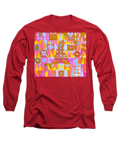 Fantasy In Form Long Sleeve T-Shirt by Beth Saffer